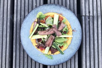 BBQ recept wraps met gegrilde steak